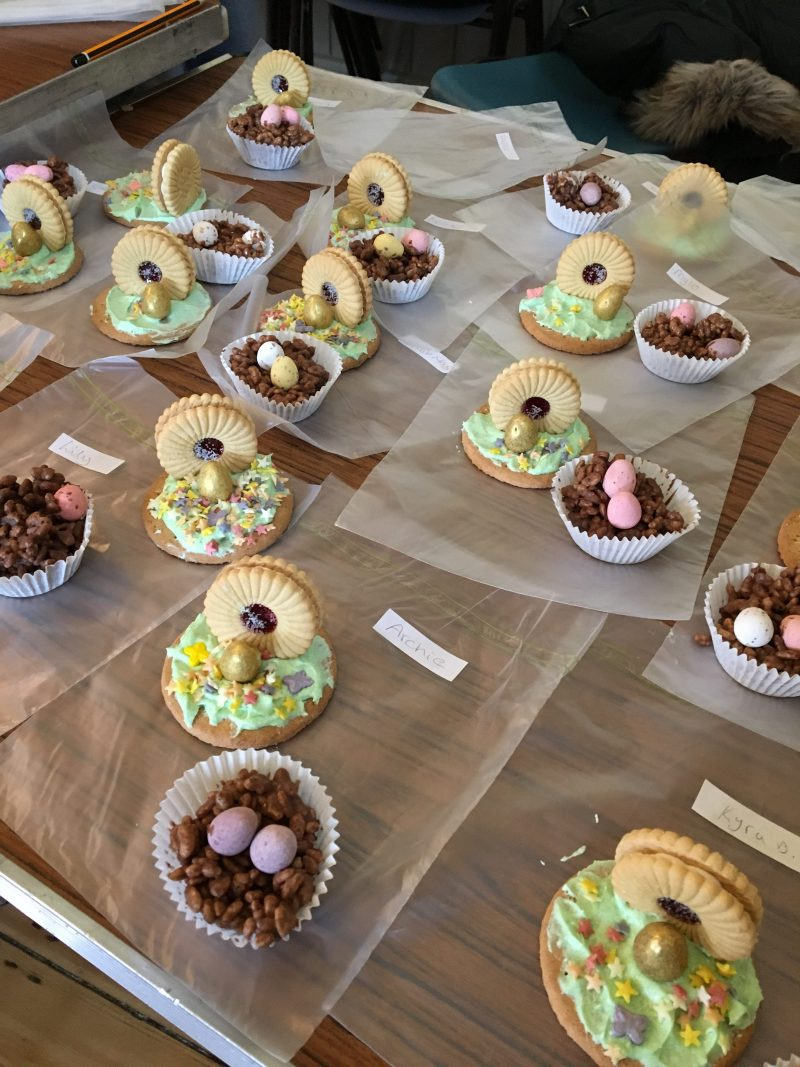 Yummy easter cakes and biscuits
