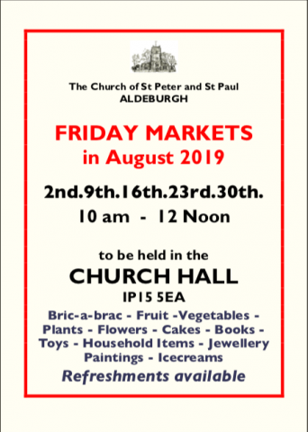 Friday Markets at Aldeburgh Parish Church